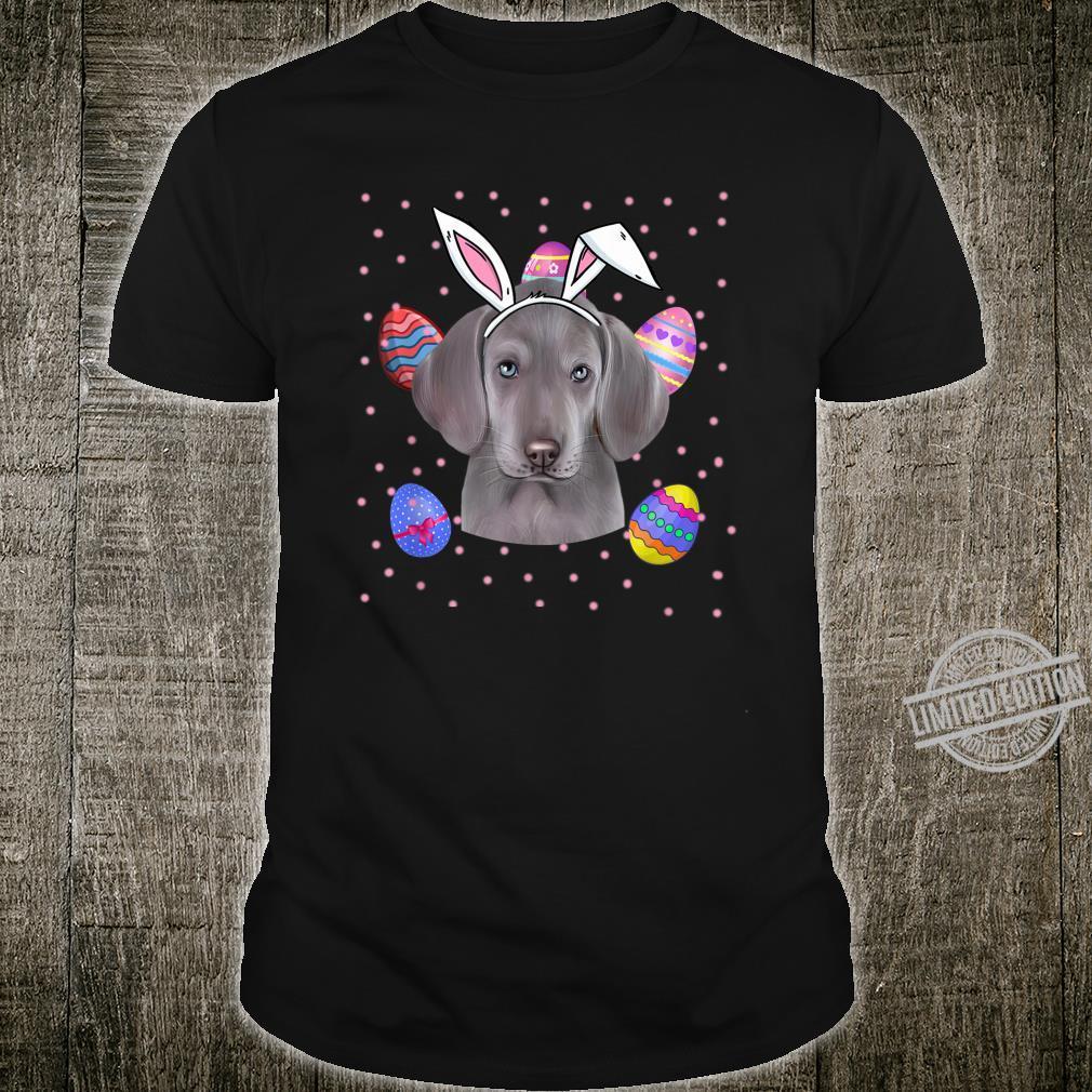 Easter Bunny Weimaraner Dog Shirt