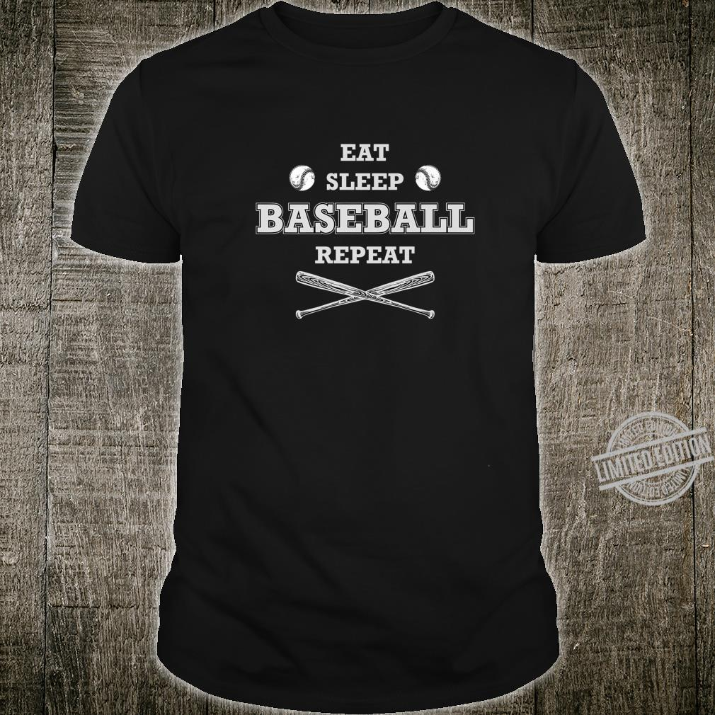 Eat Sleep Baseball Repeat Baseball Player idea Shirt