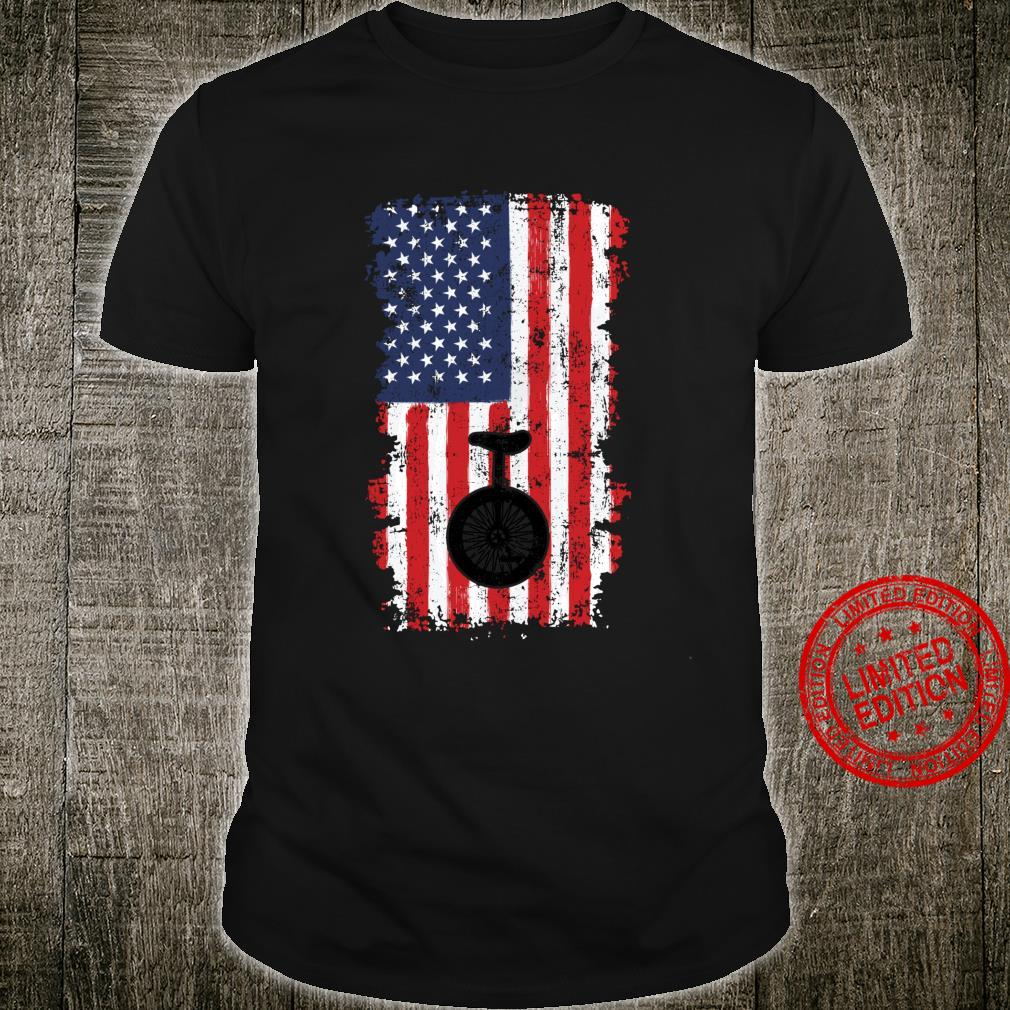 Einfarbige amerikanische Flagge Langarmshirt Shirt