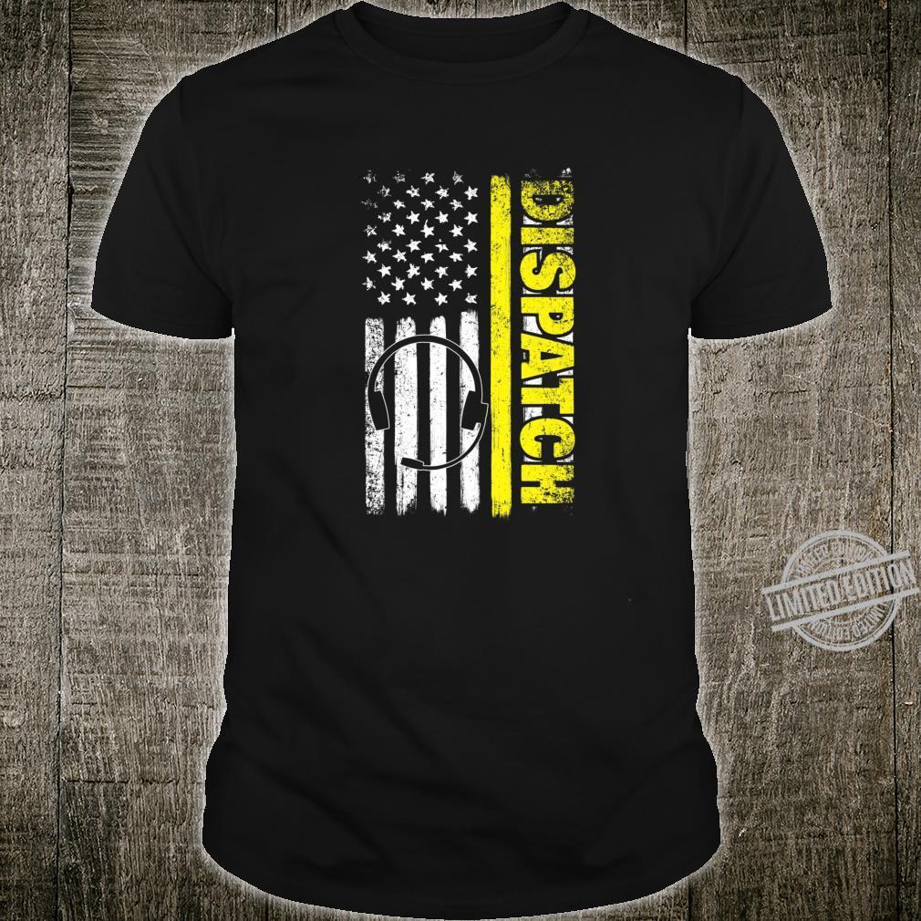Emergency Dispatcher American Flag 911 Operator Shirt