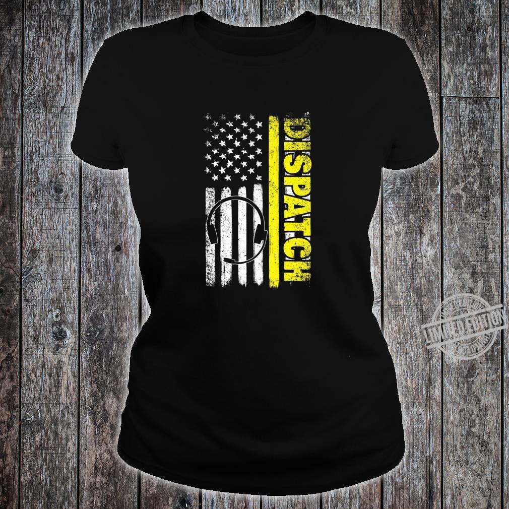 Emergency Dispatcher American Flag 911 Operator Shirt ladies tee
