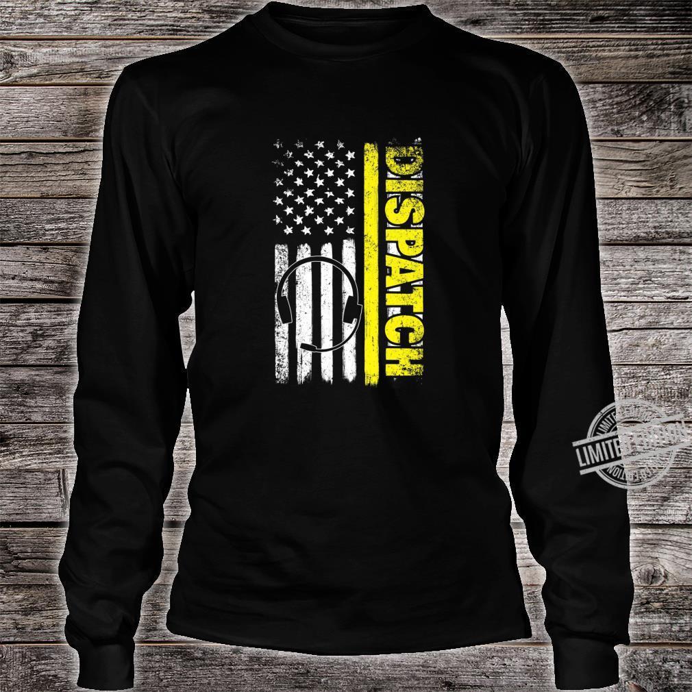 Emergency Dispatcher American Flag 911 Operator Shirt long sleeved