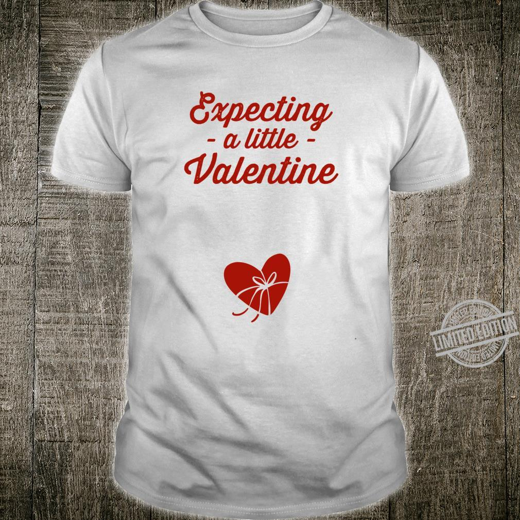 Expecting a Little Valentine Pregnancy Announcement Shirt