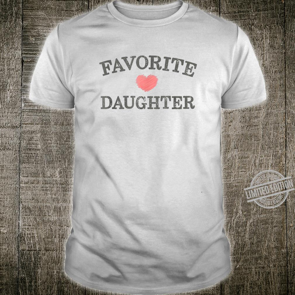 Favorite Daughter Heart Distressed Vintage Shirt
