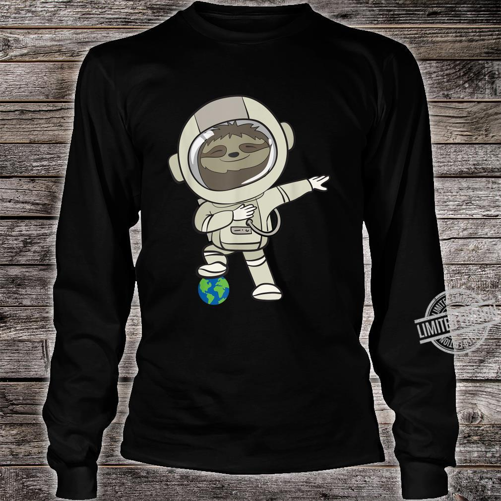 Funny Astronomer I Sloth In Space Suit I Shirt long sleeved