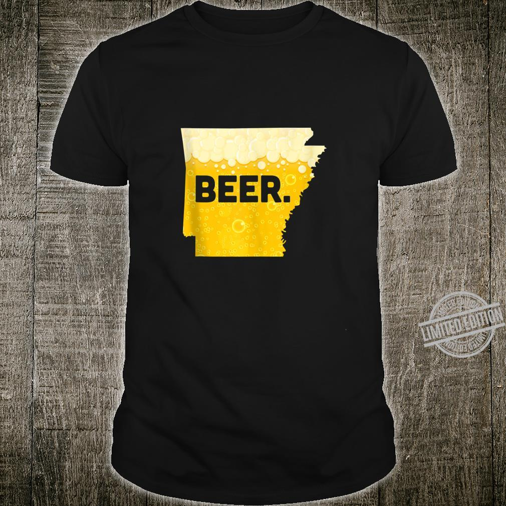 Funny Beer AR State Drinking Home Love Arkansas Beer Shirt