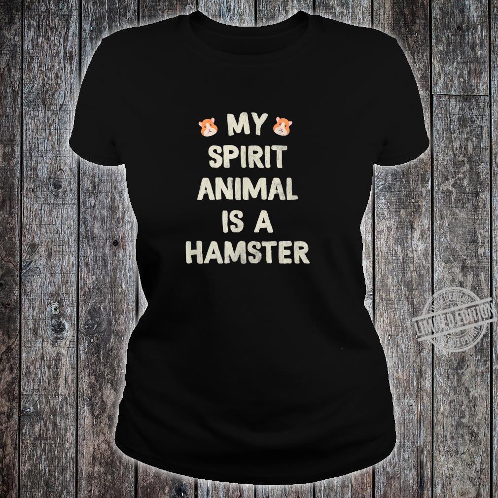 Funny Cute Hamster Shirt ladies tee