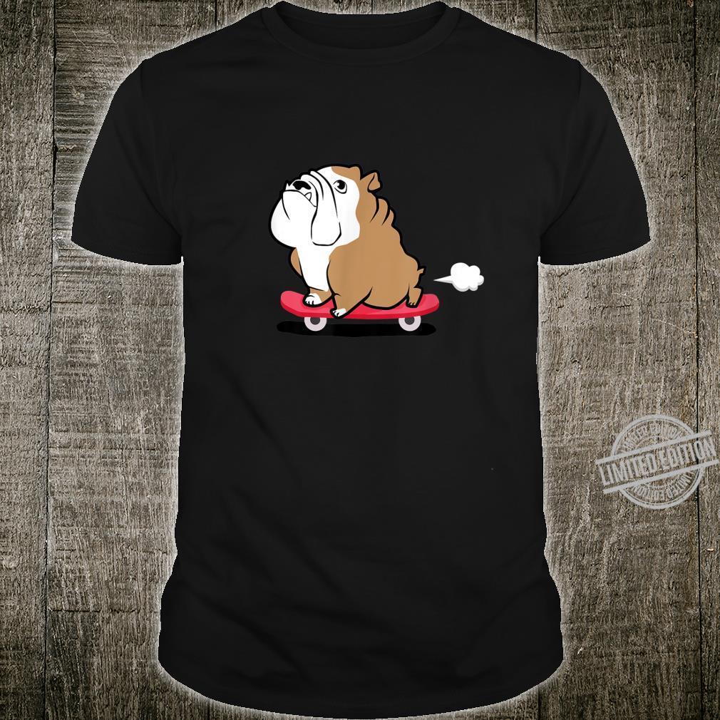 Funny Dog Bulldog Skateboard Pet Shirt