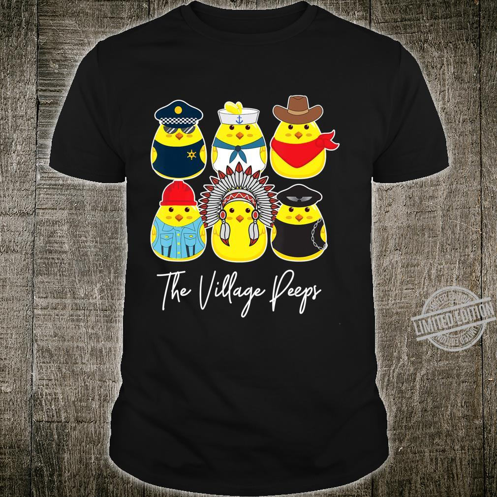 Funny Easter Village Peeps Cute Chick Bunny Shirt