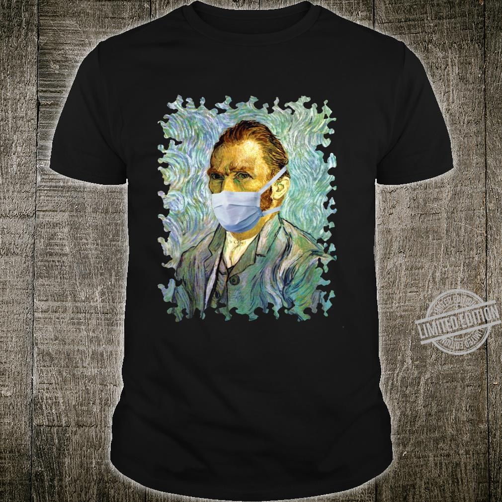 Funny Flu Season Van Gogh Self With Mask Spoof Shirt