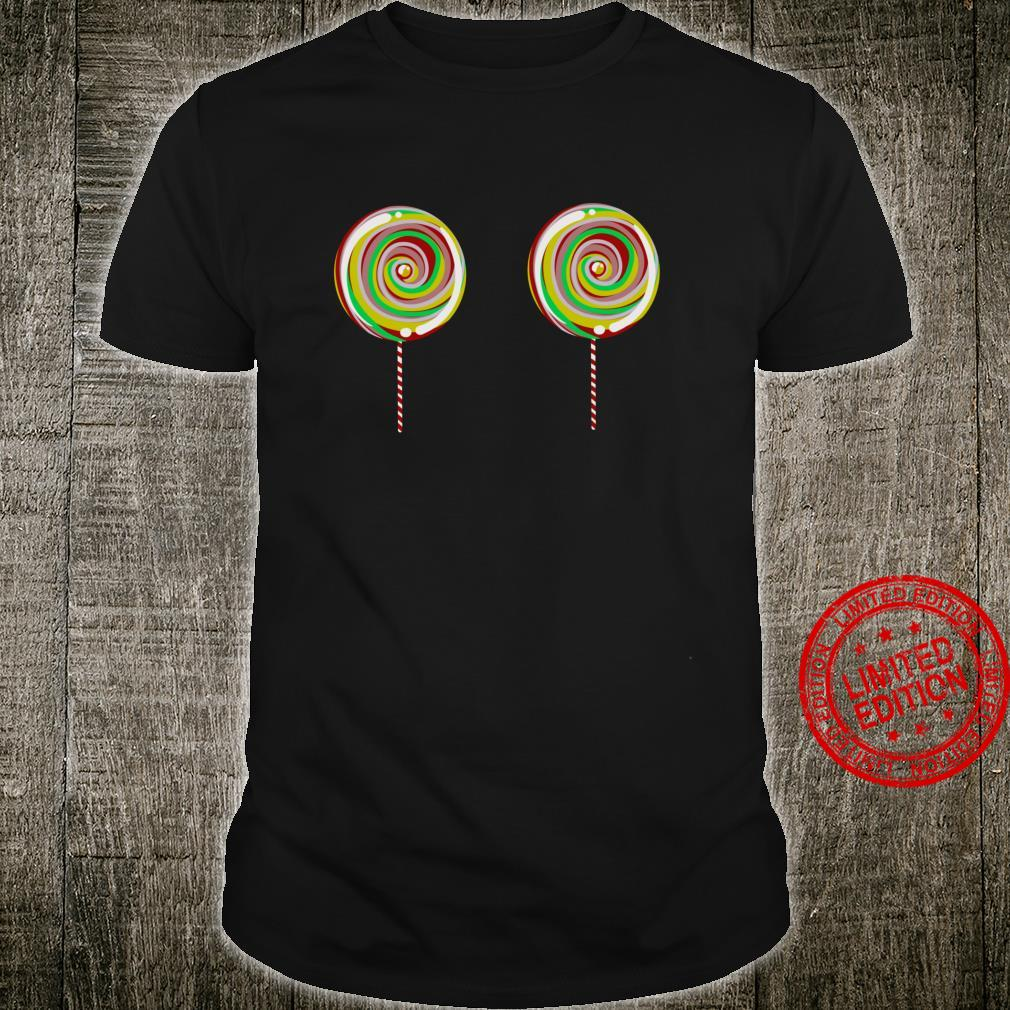 Funny Lollipop Boobs Cute Stick Candy Sweet Tooth Shirt