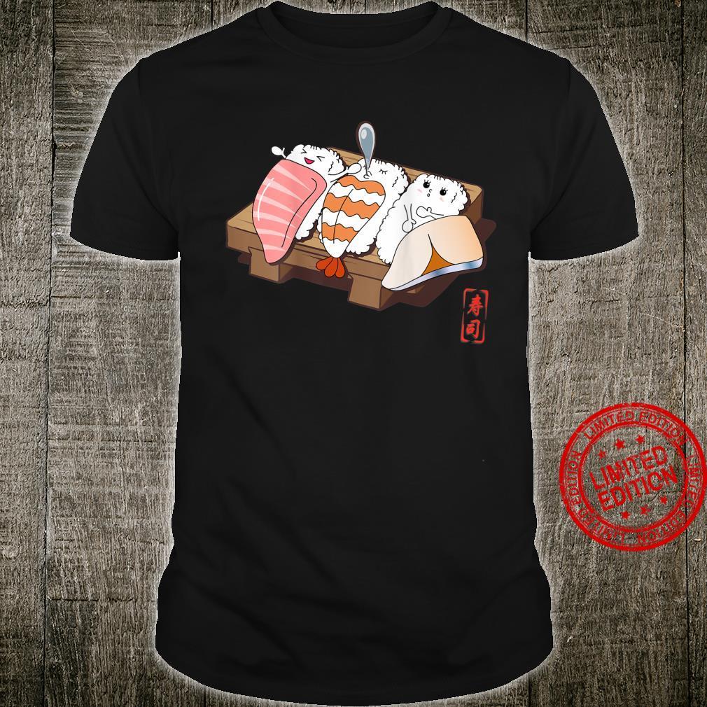 Funny Nigiri Sushi on Wooden Plate Shirt