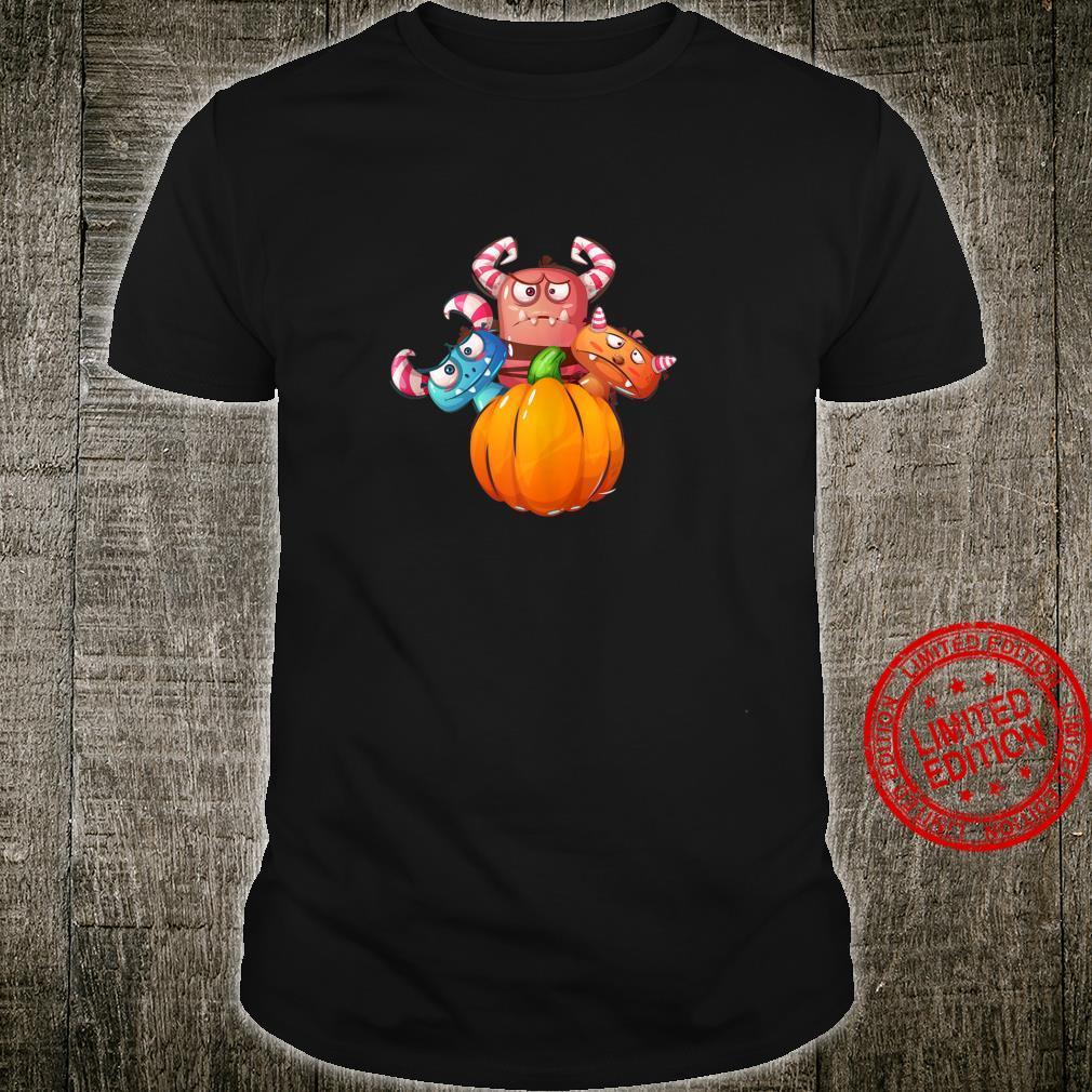 Funny Pumpkin Monsters for Halloween Shirt