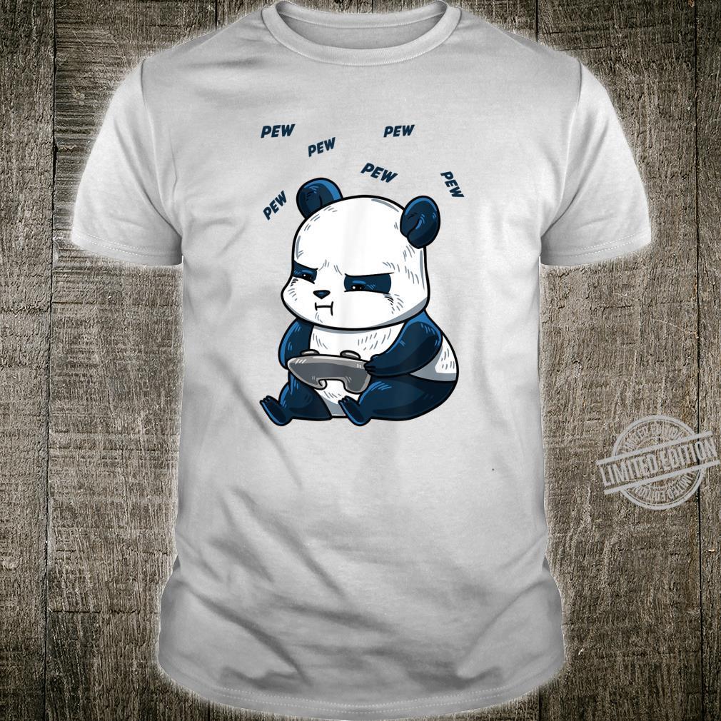 Gaming Panda Pew Cute Hobby Bear Video Game Player Shirt