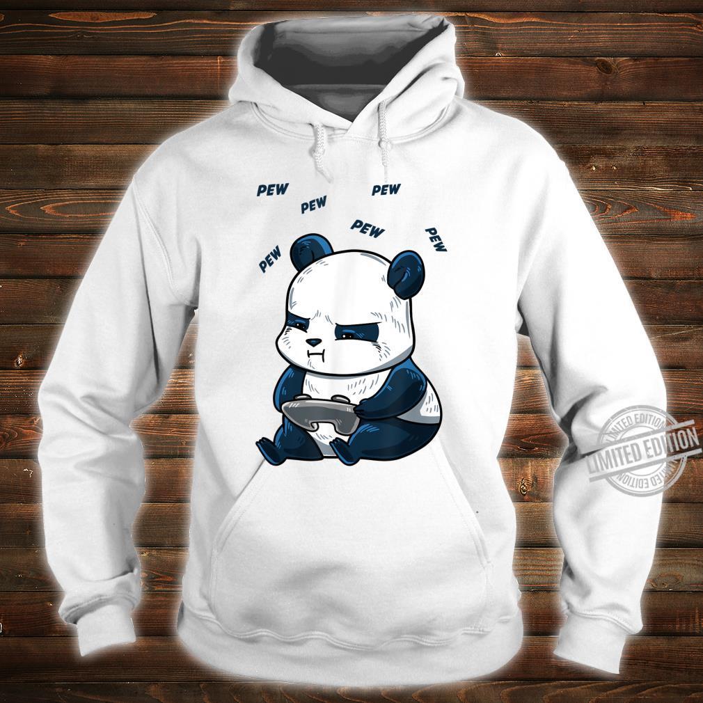 Gaming Panda Pew Cute Hobby Bear Video Game Player Shirt hoodie
