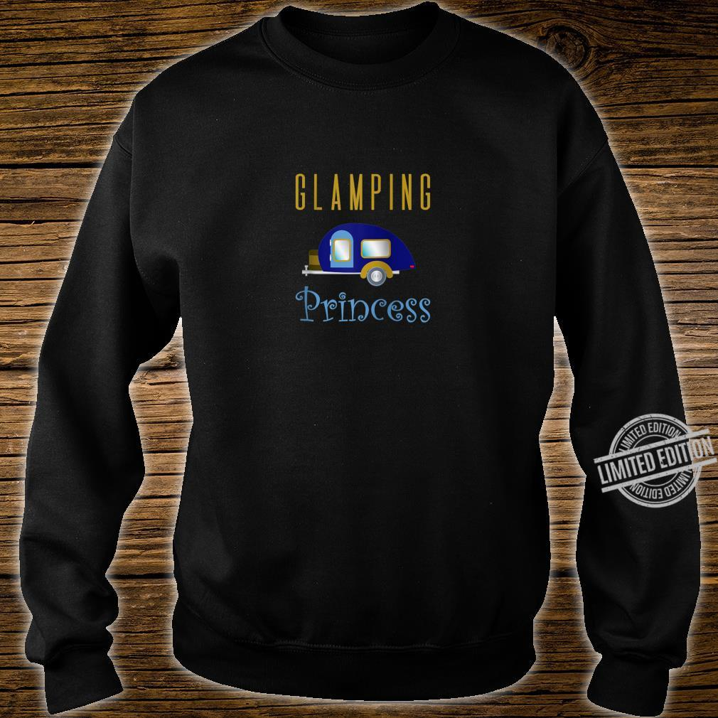 Glamping Princess Camping in Style Blue Camper Shirt sweater