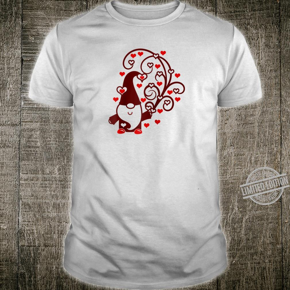 Gnome Valentine with Hearts Cute Girls Boys Shirt