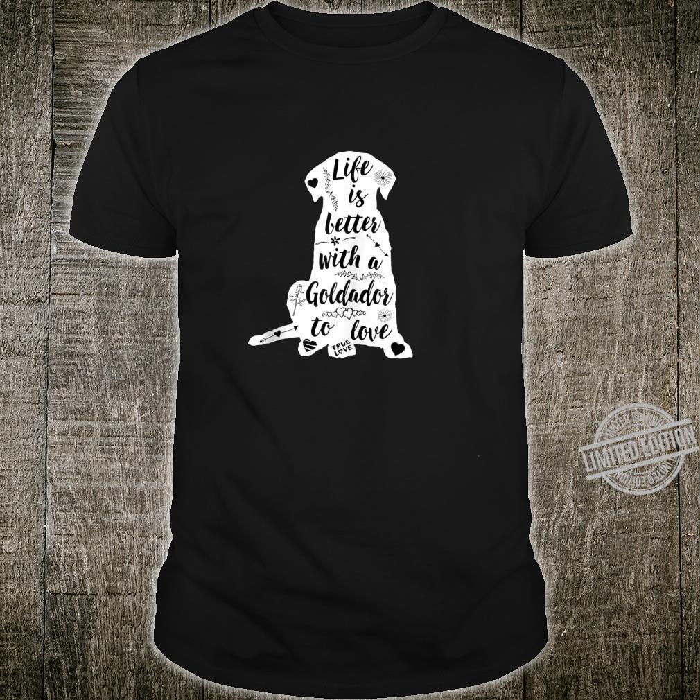Goldador Shirt Design for Goldador Dogs Shirt