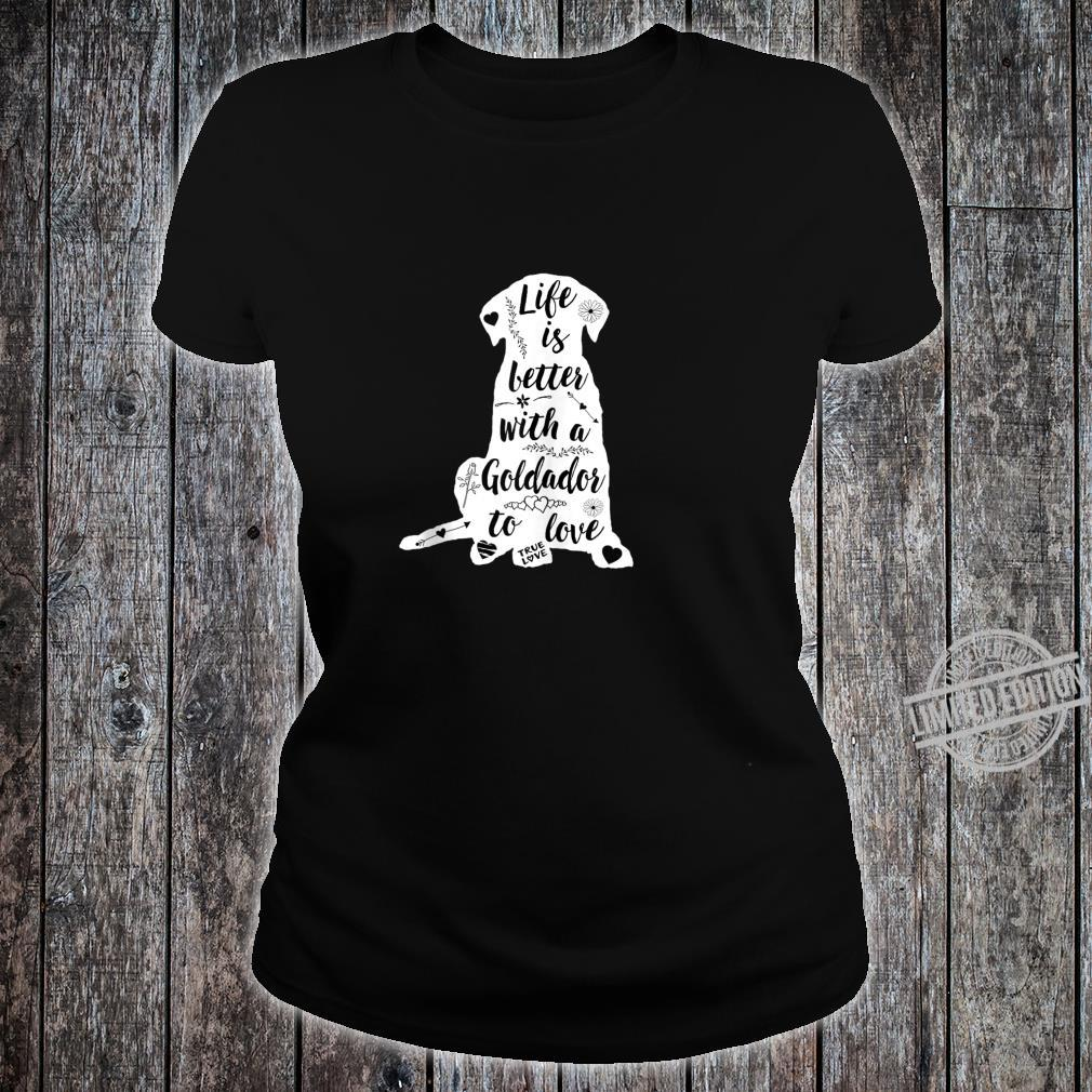 Goldador Shirt Design for Goldador Dogs Shirt ladies tee