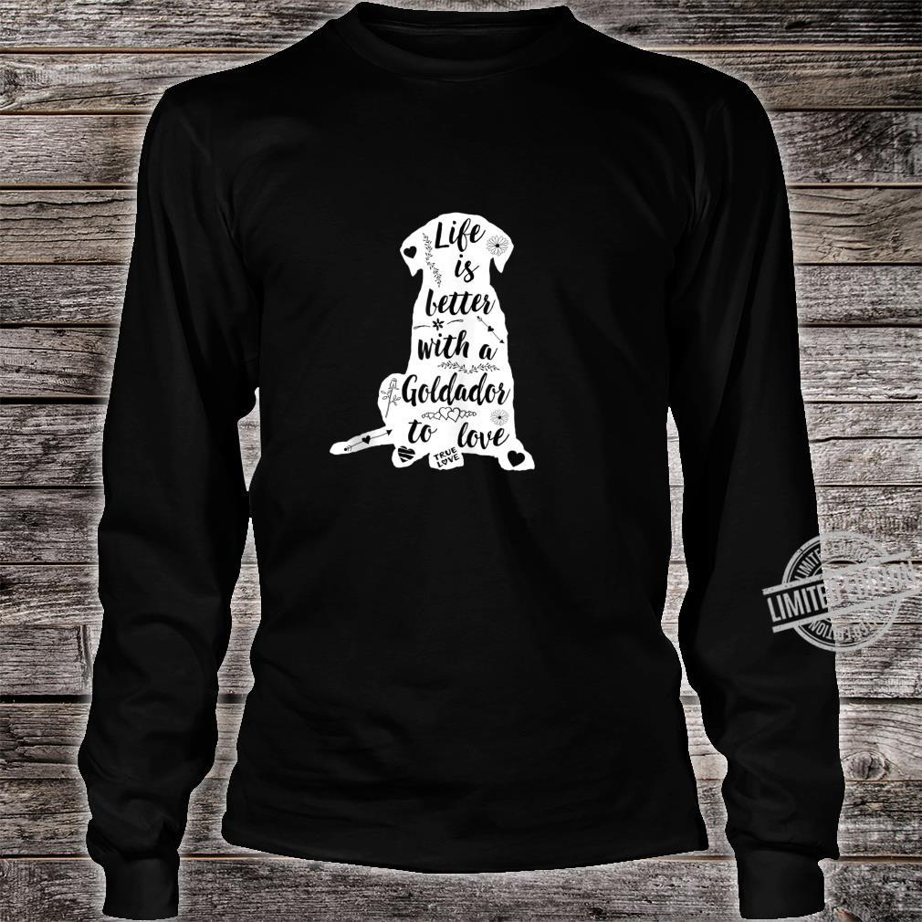 Goldador Shirt Design for Goldador Dogs Shirt long sleeved