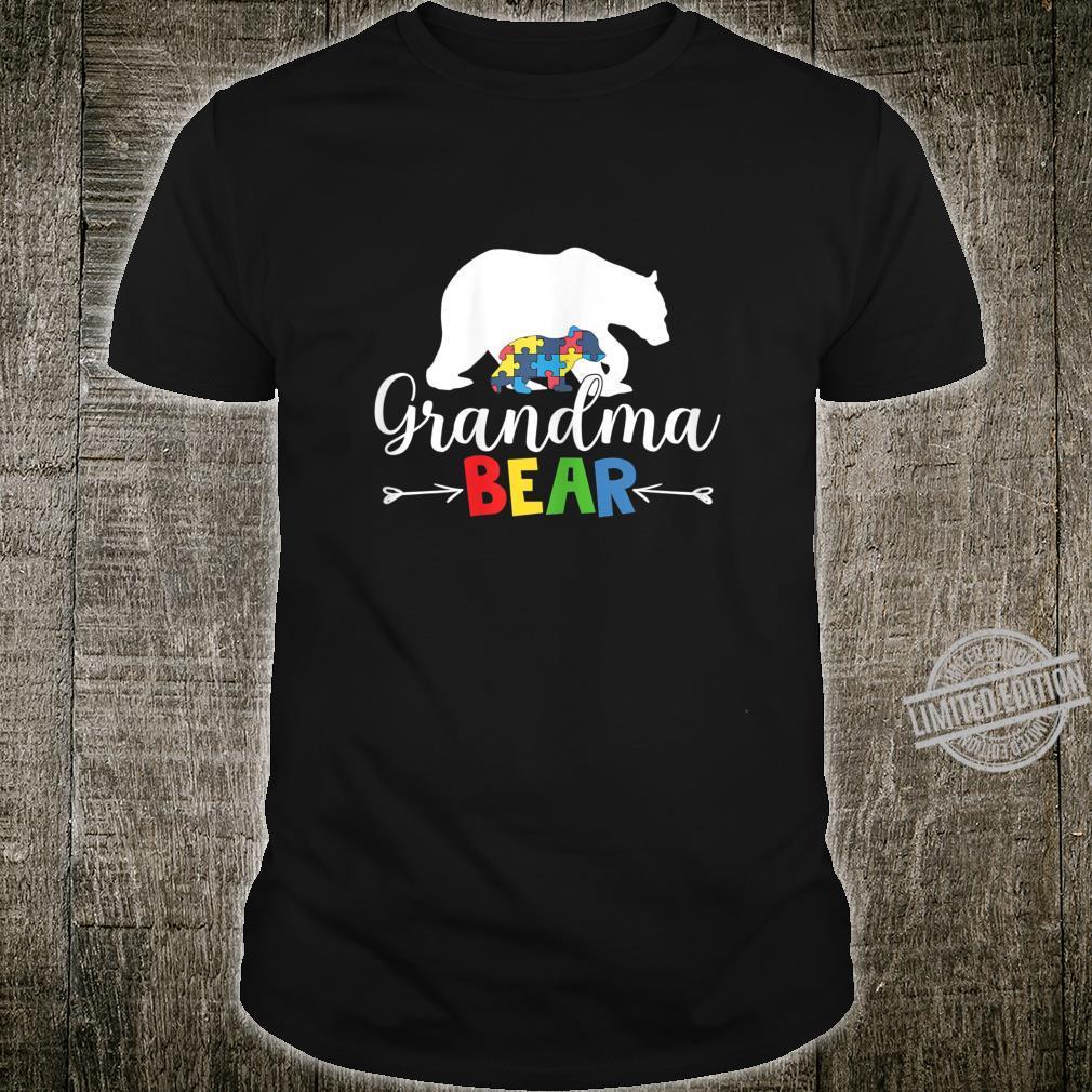Grandma Bear Autism Awareness Shirt Love Support Mom Shirt