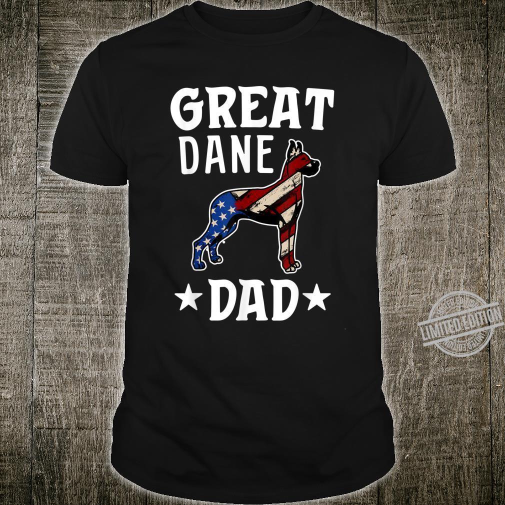 Great Dane Dad Dog Shirt American Flag Shirt