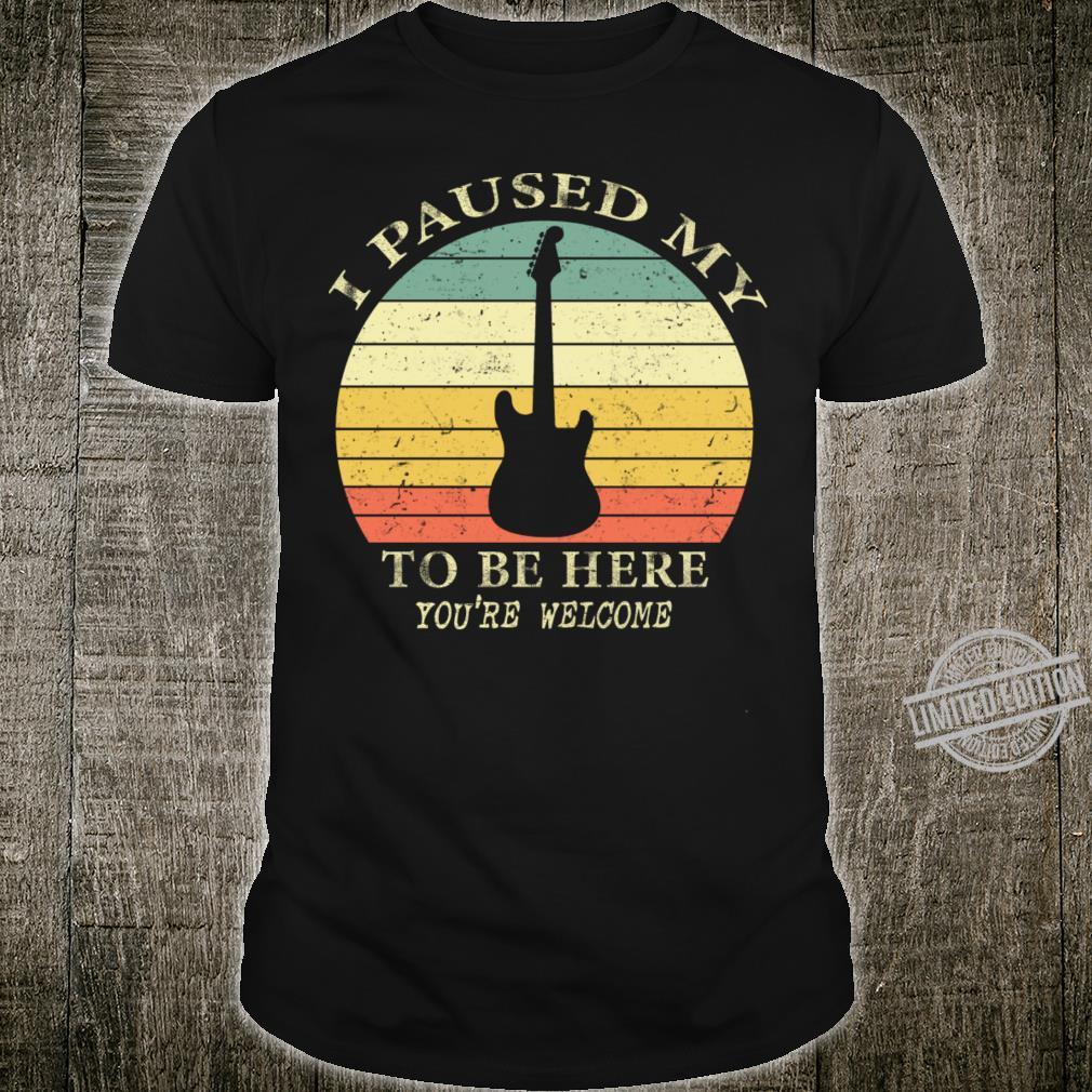 Guitar Retro Style Shirt