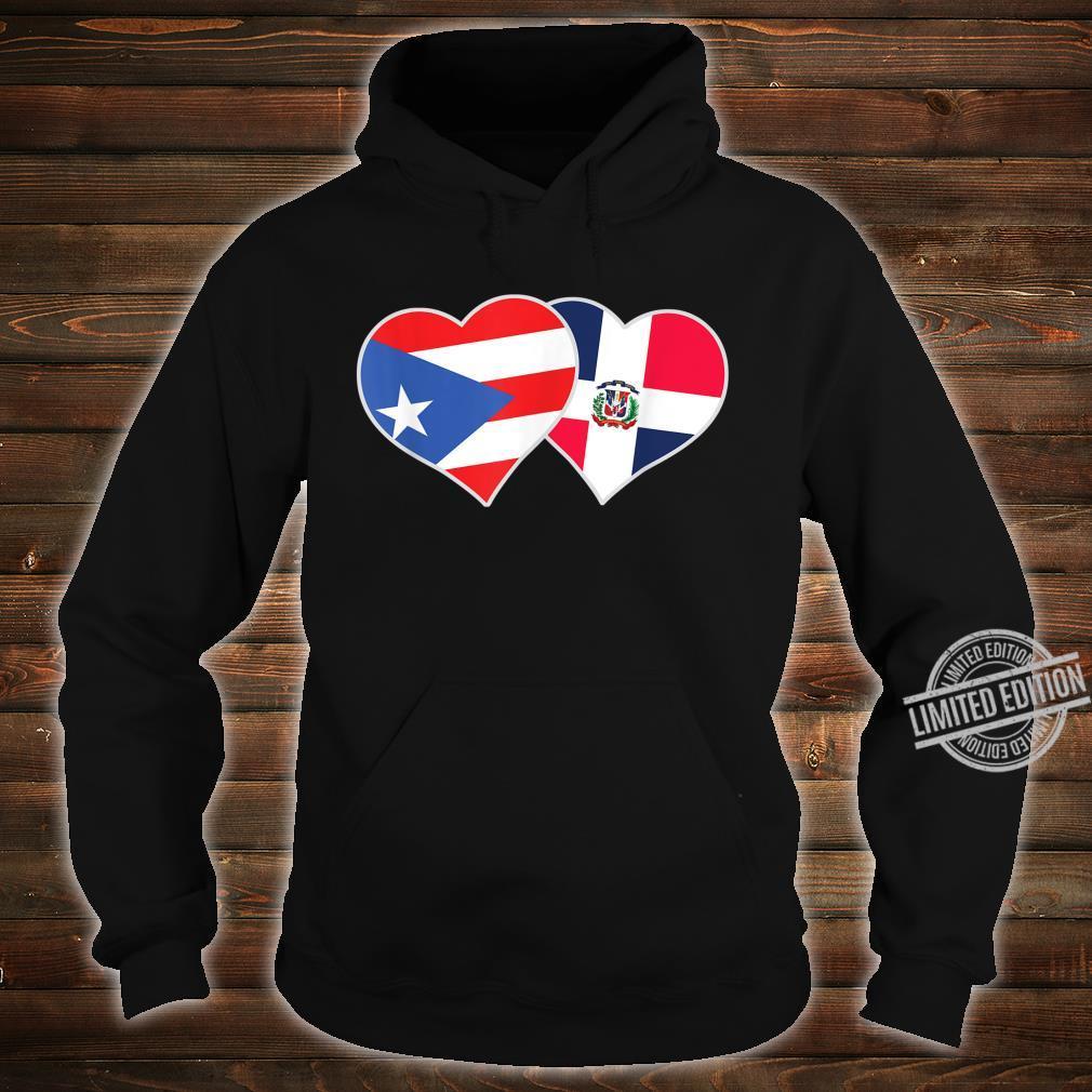 Half Puerto Rican Half Dominican Flag Heart DominiRican Shirt hoodie