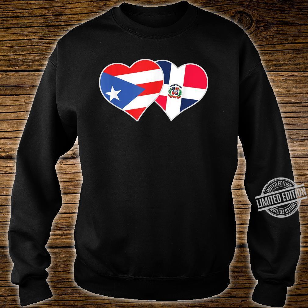 Half Puerto Rican Half Dominican Flag Heart DominiRican Shirt sweater