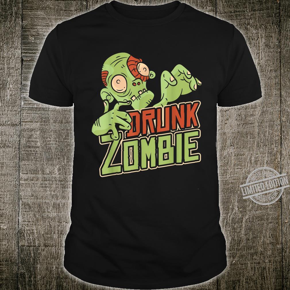 Halloween Costume Drunk Zombie Shirt