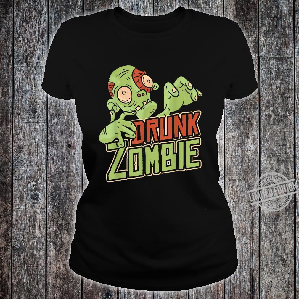 Halloween Costume Drunk Zombie Shirt ladies tee