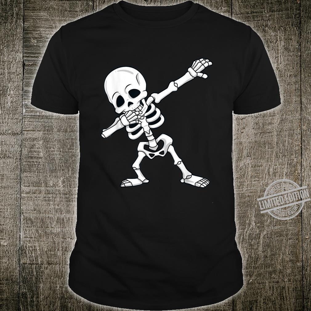 Halloween Dabbing Skeleton Boys Girls Dab Shirt