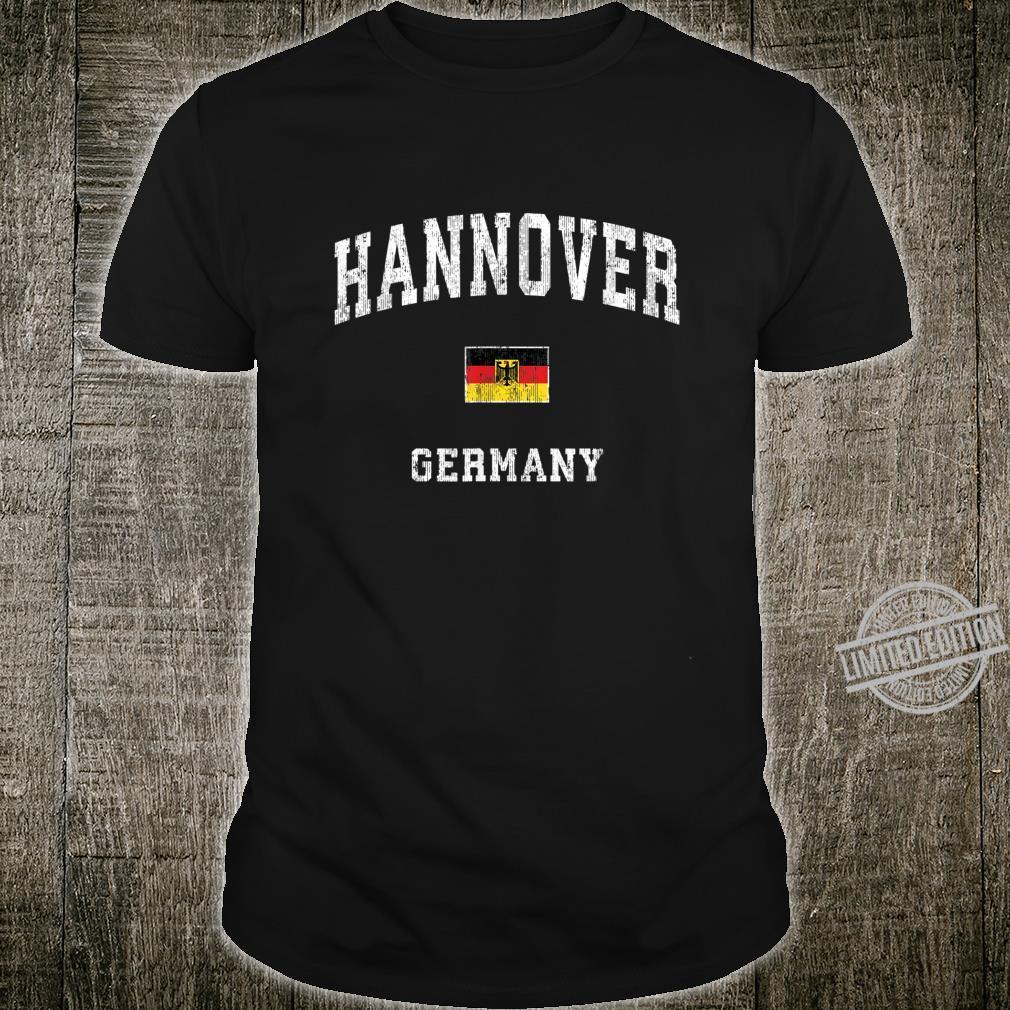 Hannover Germany Vintage Athletic Sports Design Shirt
