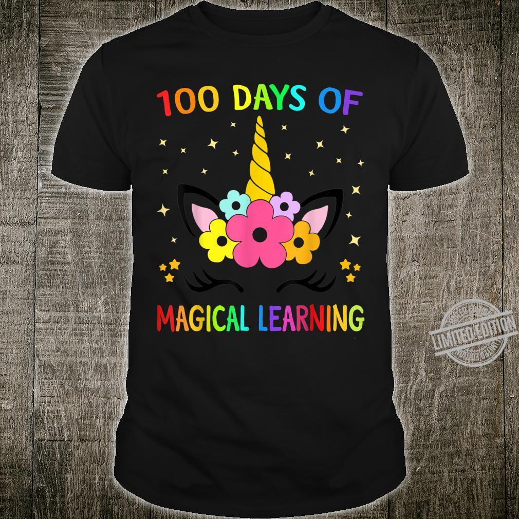 Happy 100 Days Of School Magical Learning Shirt Unicorn Shirt