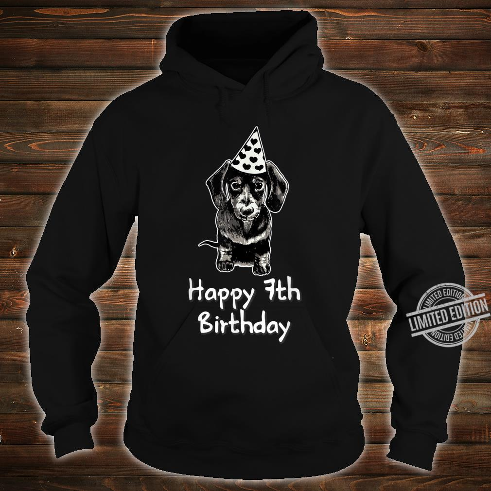 Happy 7th Birthday Dachshund Drawing Girl Shirt hoodie