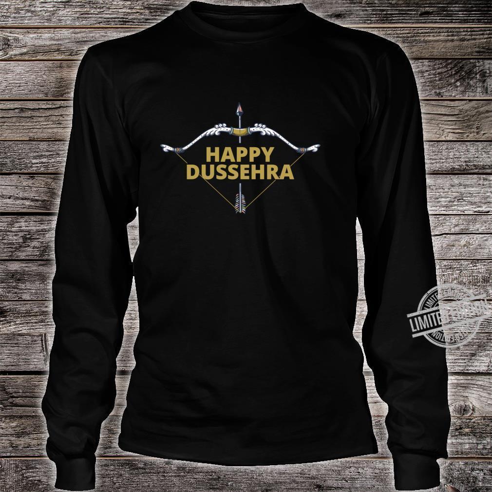 Happy Dussehra Dashahara Holiday Festival Bow and Arrow Shirt long sleeved
