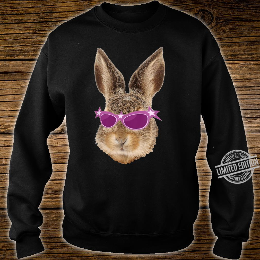 Happy Easter Bunny Rabbit Pink Glasses Hipster Shirt sweater