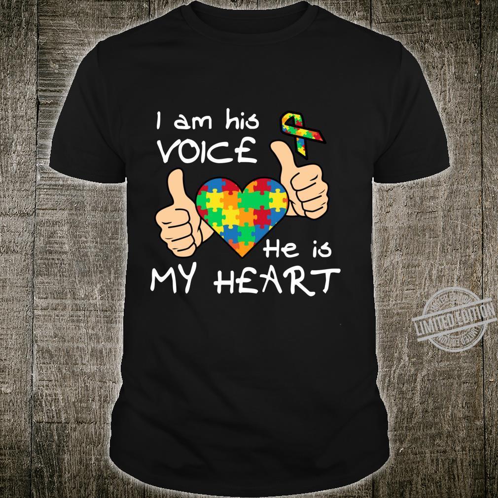Heart Puzzle Son Quotes Inspirational Autism Awareness Shirt