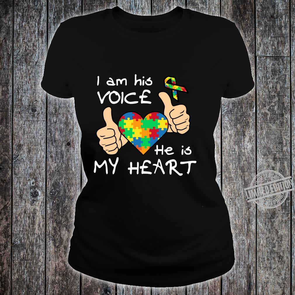 Heart Puzzle Son Quotes Inspirational Autism Awareness Shirt ladies tee