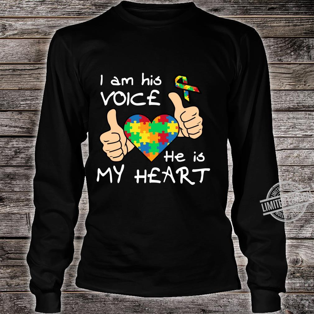 Heart Puzzle Son Quotes Inspirational Autism Awareness Shirt long sleeved
