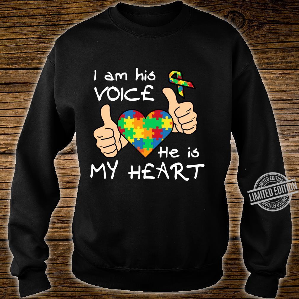 Heart Puzzle Son Quotes Inspirational Autism Awareness Shirt sweater