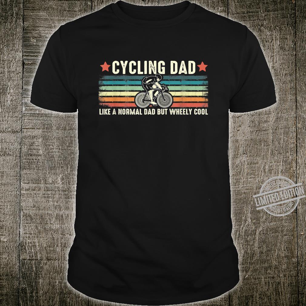 Herren Cycling Dad Wheely Cool Vintage Bike Rider Cyclist Pun Shirt