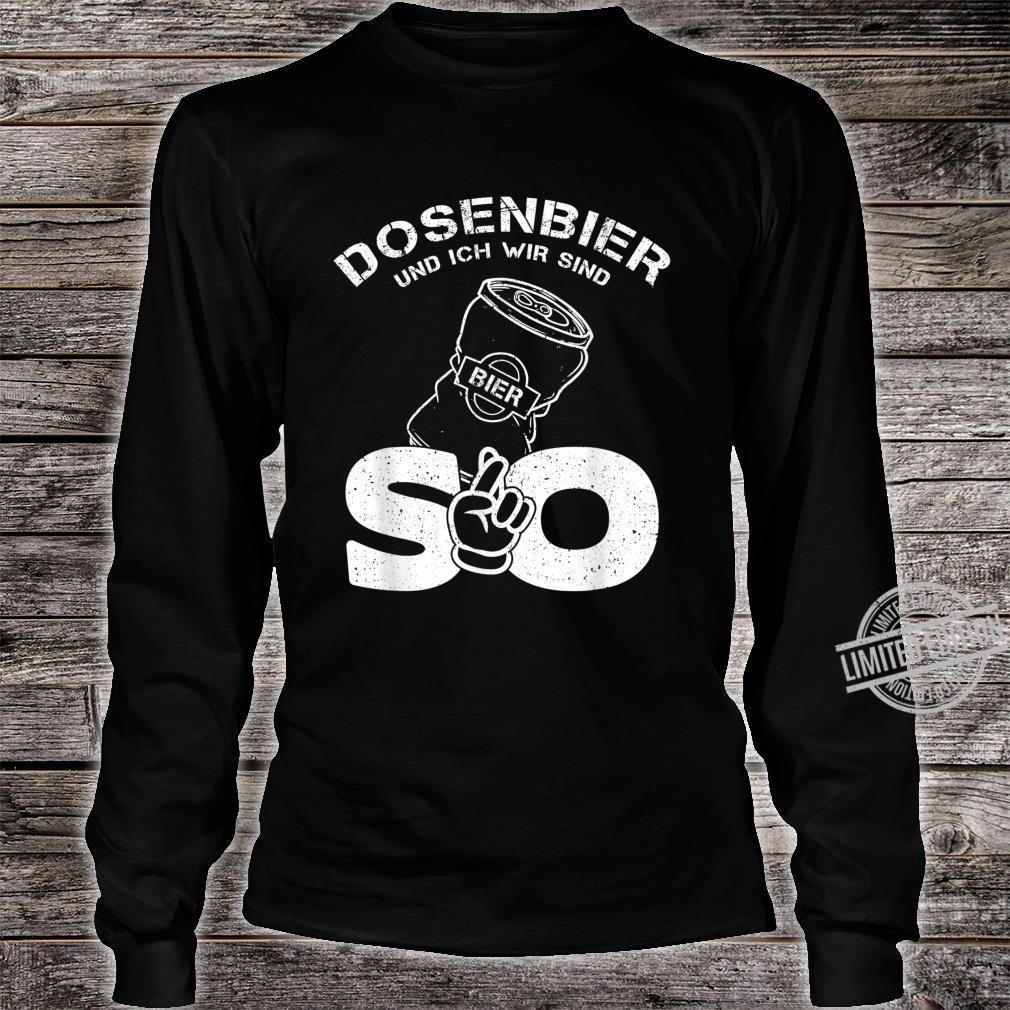 Herren Dosenbier und ich wir sind so Lustiges Dosenbier Sprüche Shirt long sleeved