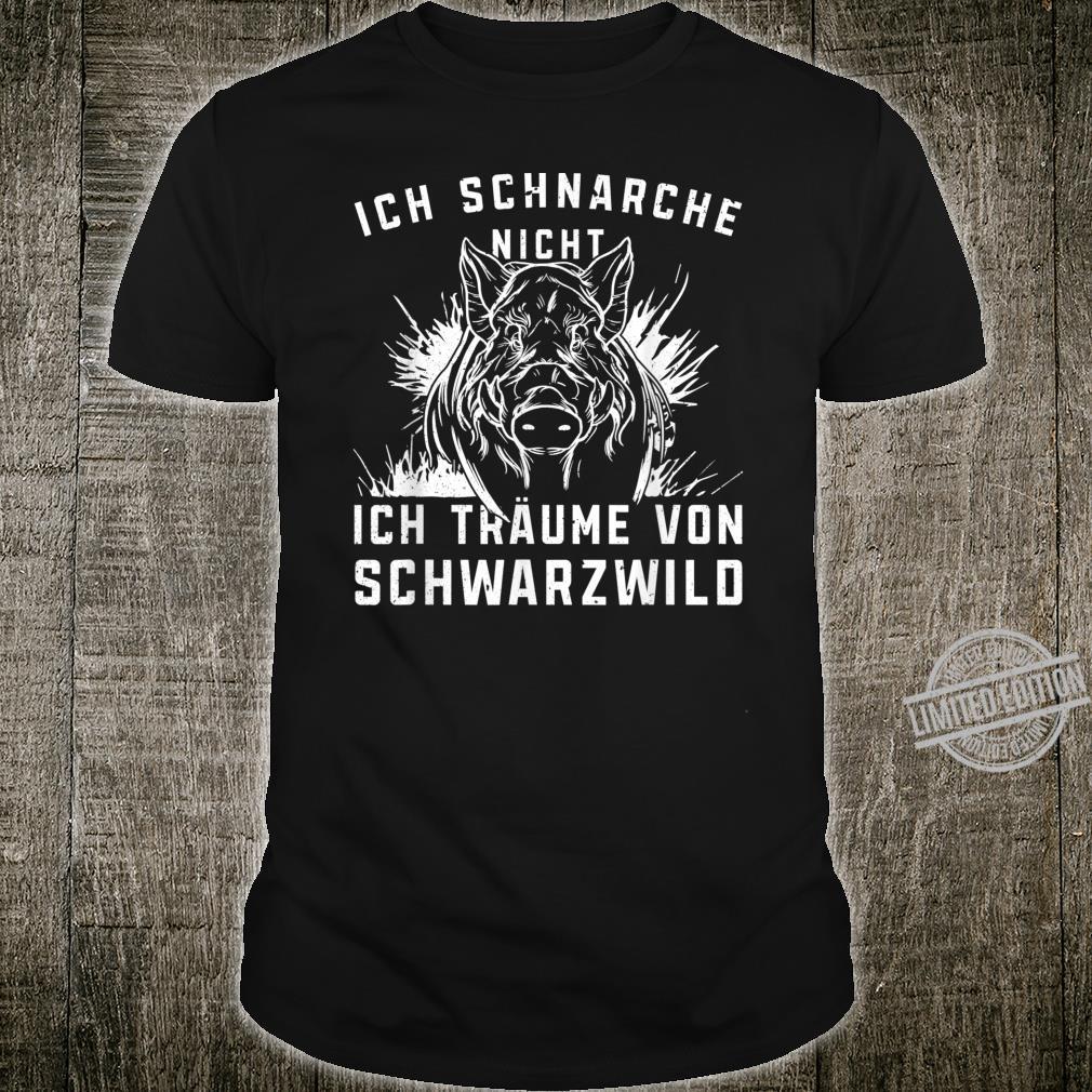 Herren Jäger Schwarzwild I Jundjäger Drückjagd Jagdzeit Jagd Motiv Shirt