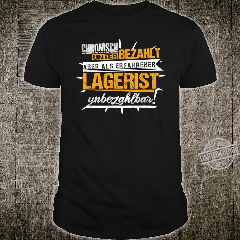 Herren Lagerist Witze Lagerarbeiter Kommissionierer Ironie Fun Shirt