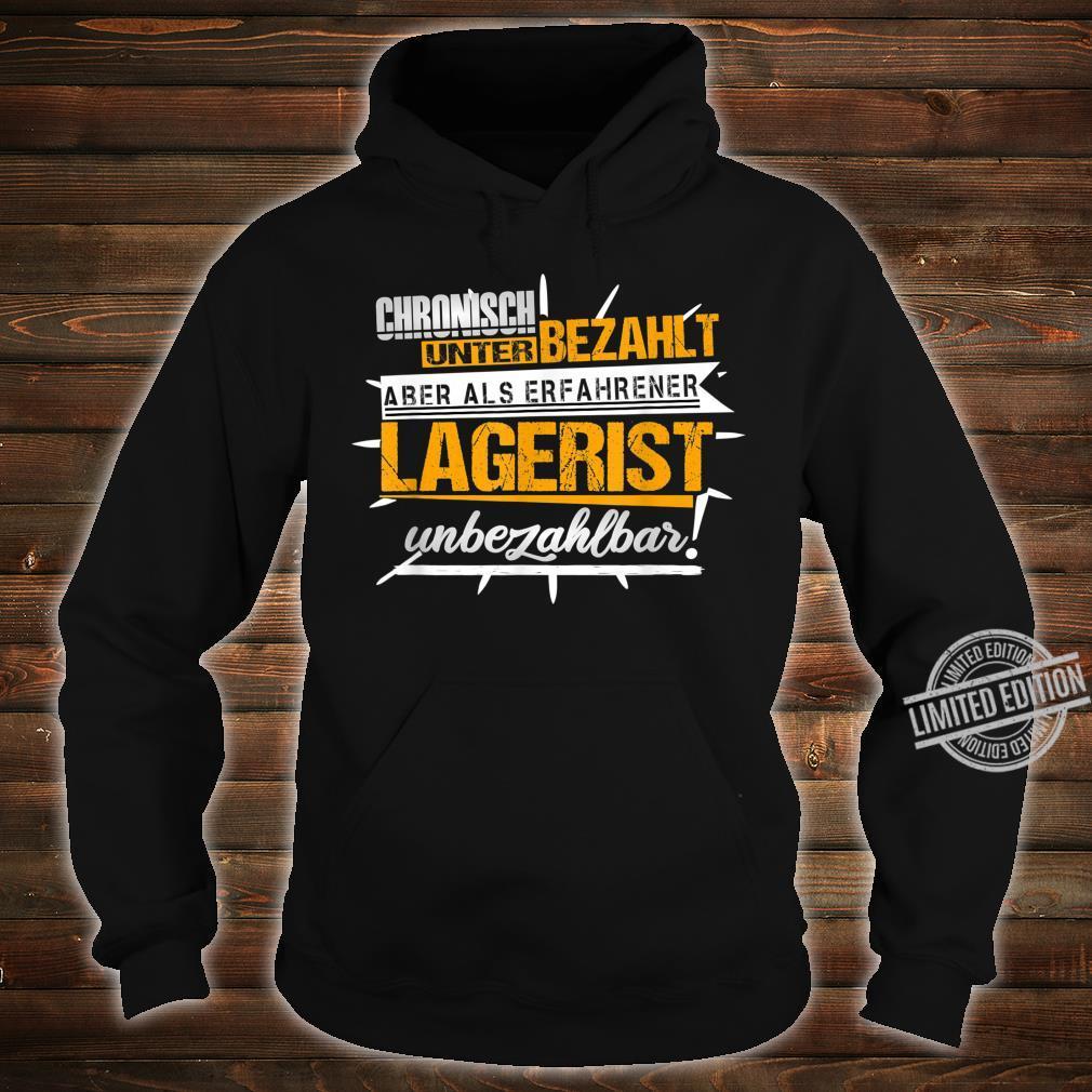 Herren Lagerist Witze Lagerarbeiter Kommissionierer Ironie Fun Shirt hoodie