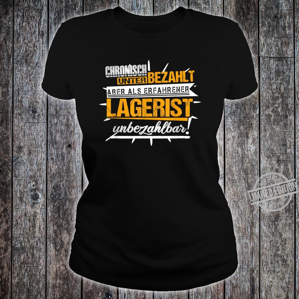 Herren Lagerist Witze Lagerarbeiter Kommissionierer Ironie Fun Shirt ladies tee