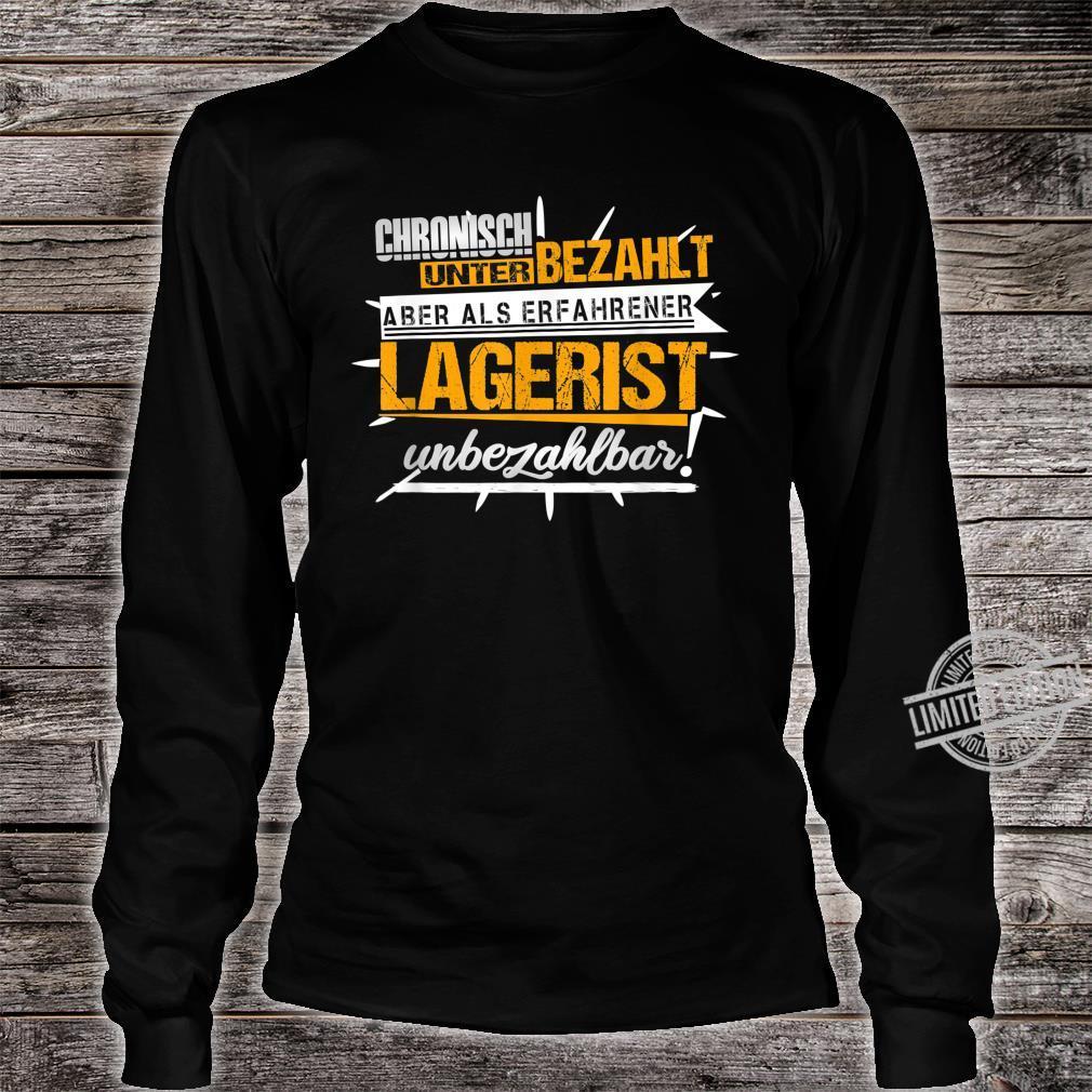 Herren Lagerist Witze Lagerarbeiter Kommissionierer Ironie Fun Shirt long sleeved