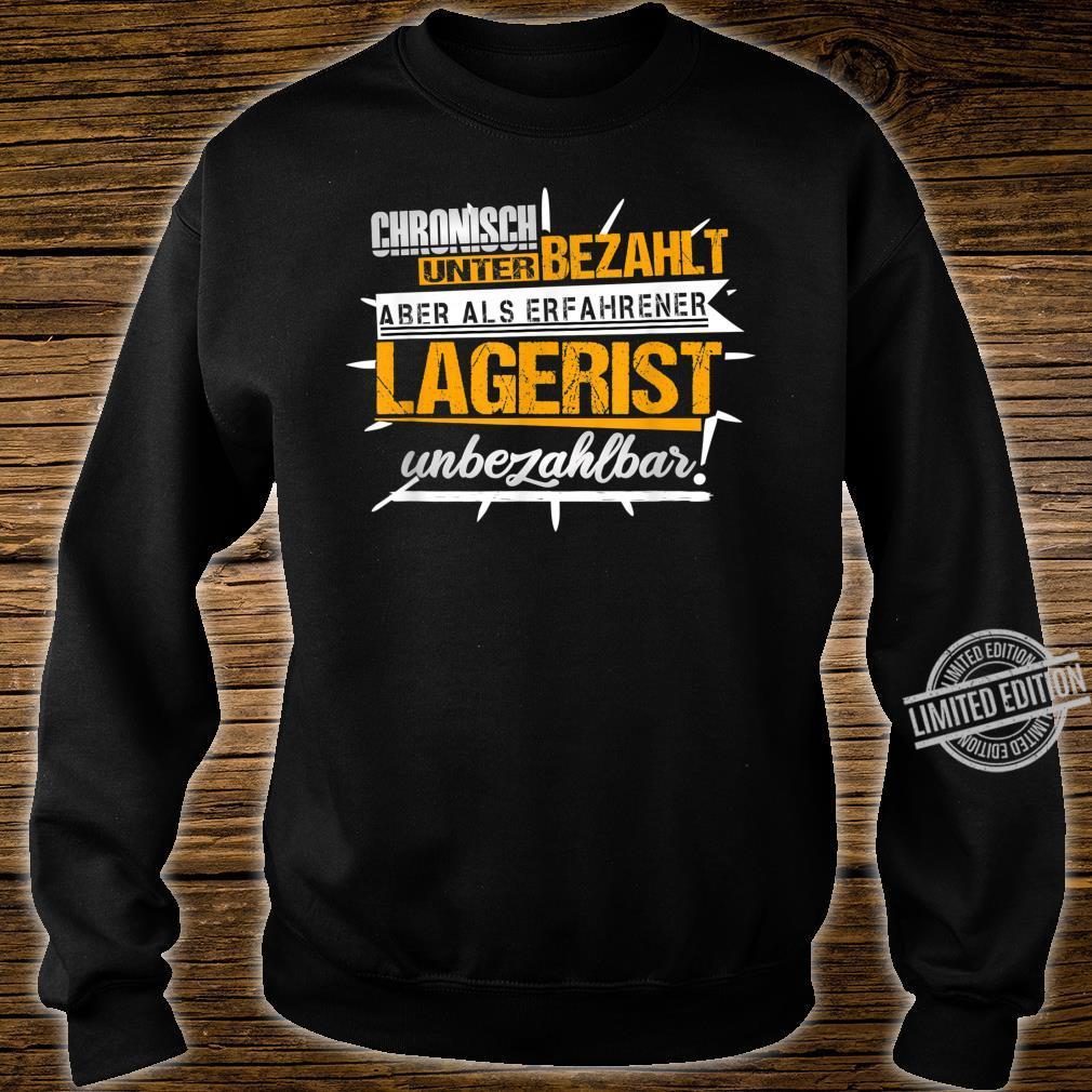 Herren Lagerist Witze Lagerarbeiter Kommissionierer Ironie Fun Shirt sweater