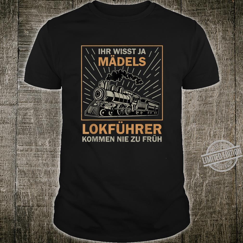 Herren Lokführer Witz Eisenbahner Zugführer Bahn lustiges Geschenk Shirt